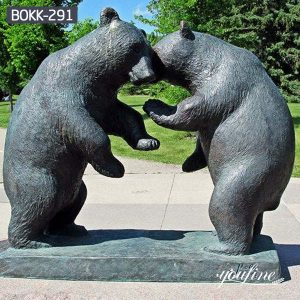 Life Size Bronze Grizzly Bear Statues Square Decoration Supplier BOKK-291