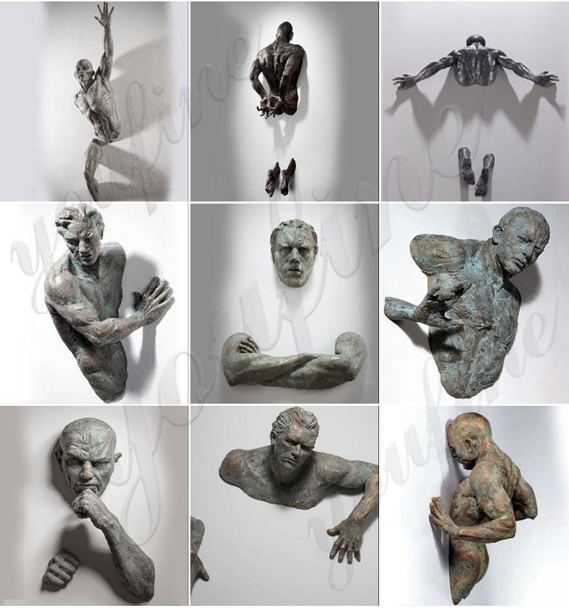 Modern art sculptures