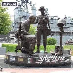 Outdoor Bronze Military Statue Memorial for Sale BOKK-34
