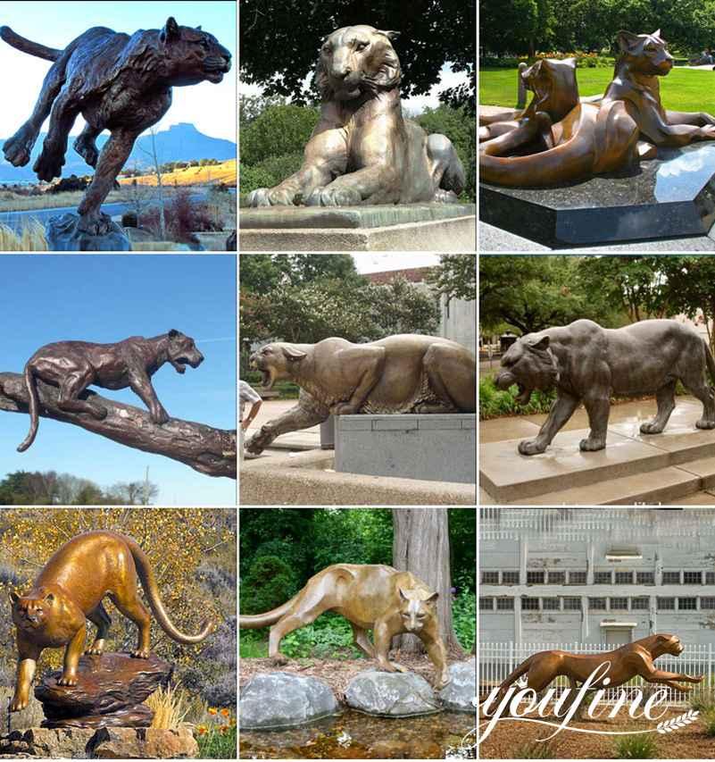 Metal bronze tiger statue