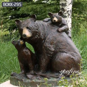Bronze Bear Family Statues Zoo Decoration Life Size for Sale BOKK-295