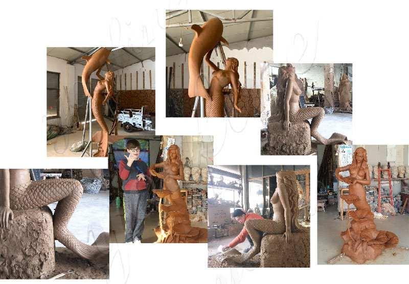 clay model bronze-mermaid-statue-2