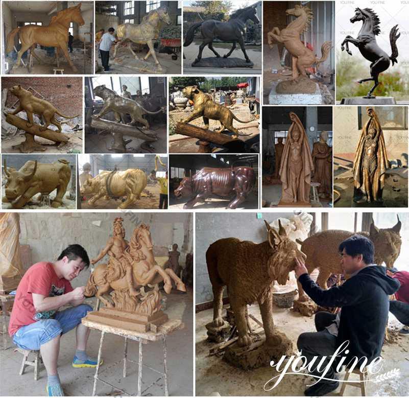 1 bronze animal statue clay model