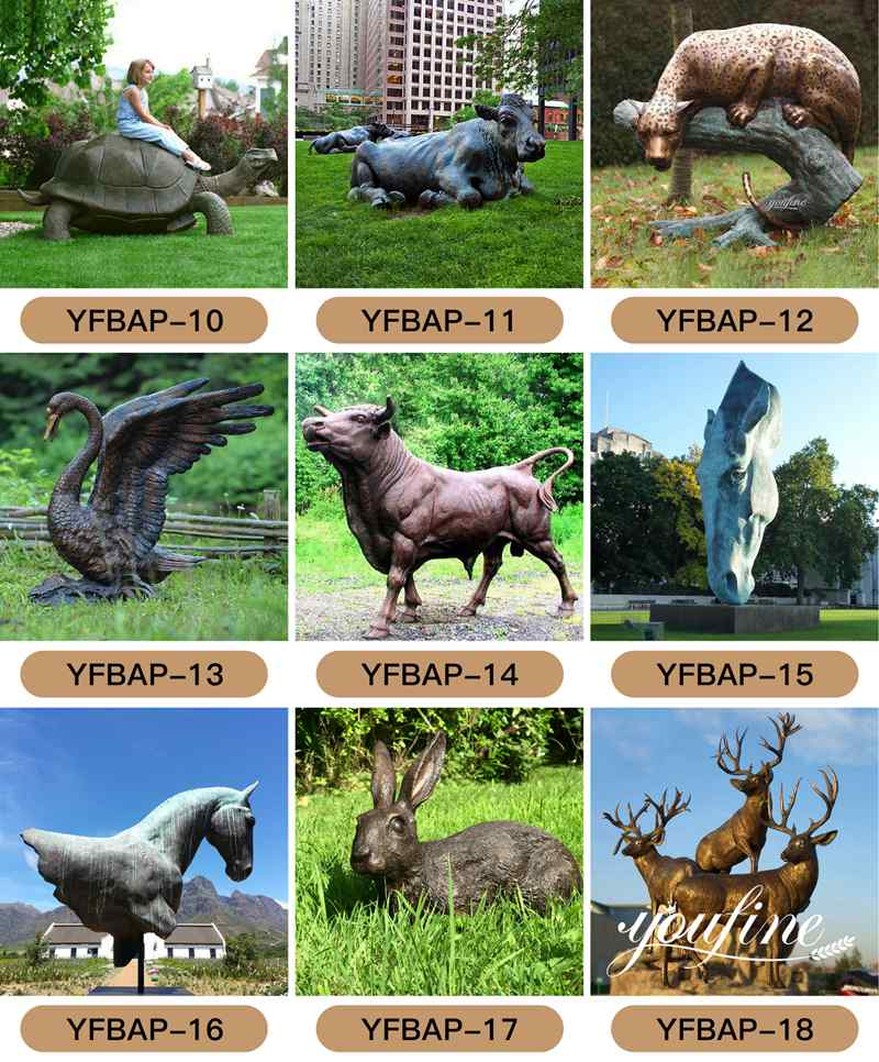 1 bronze animal statue