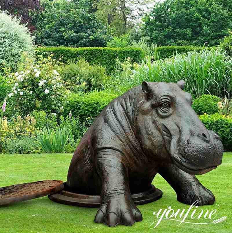 1 outdoor hippo statue