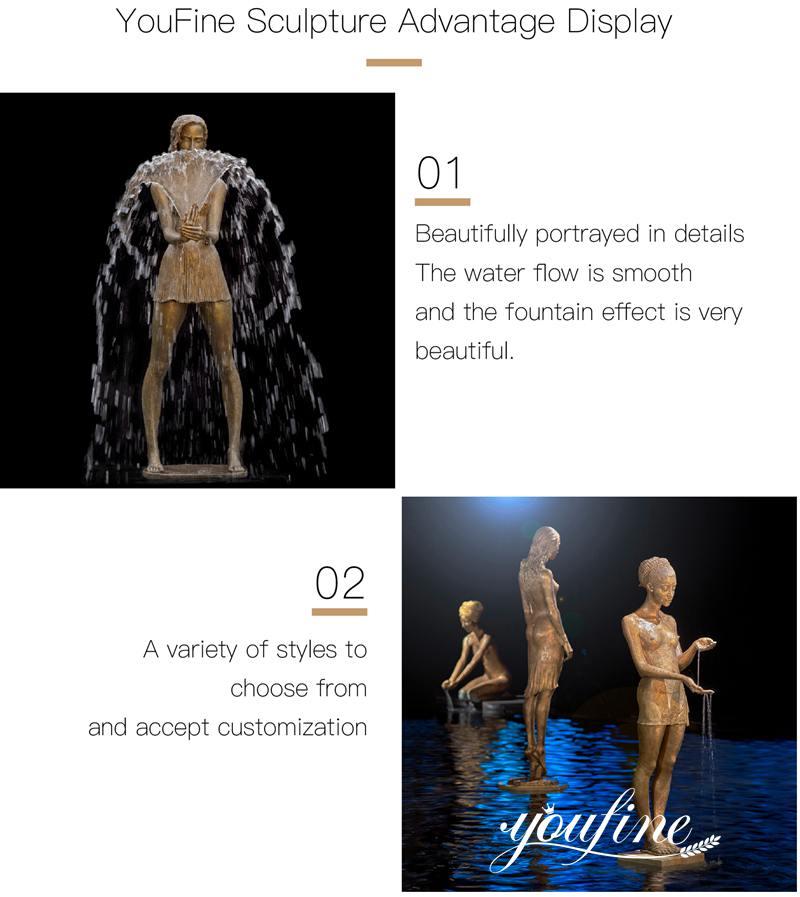 Ballerina girl fountain statue