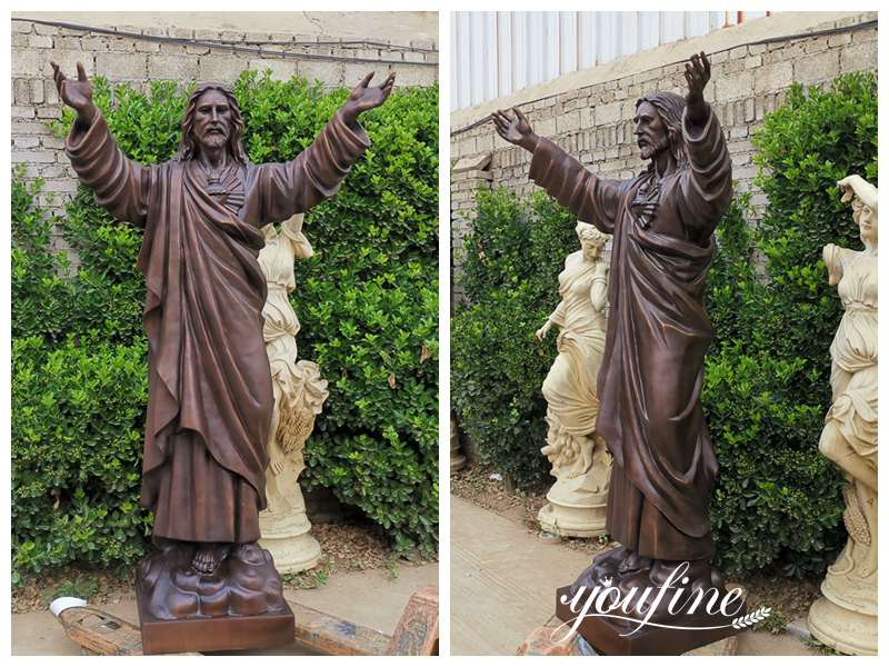 Catholic Large Bronze Outdoor Jesus Statue Church Decor
