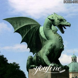 Giant Bronze Western dragon Garden Decoration for Sale BOKK-968