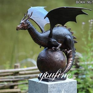 Bronze Guardian Dragon Sculpture Garden Decoration for Sale BOKK-967