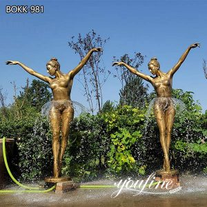 Large Garden Bronze Ballet Girl Fountain for Sale BOKK-981