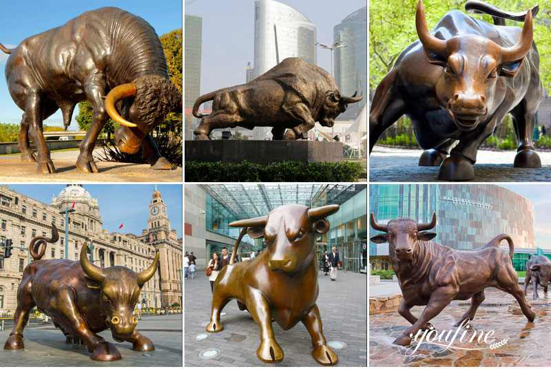 Life Size Bronze Bull Statue for sale