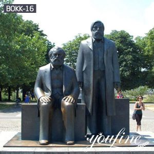 Square Bronze Memorial Statue Marx and Engels for Sale BOKK-16