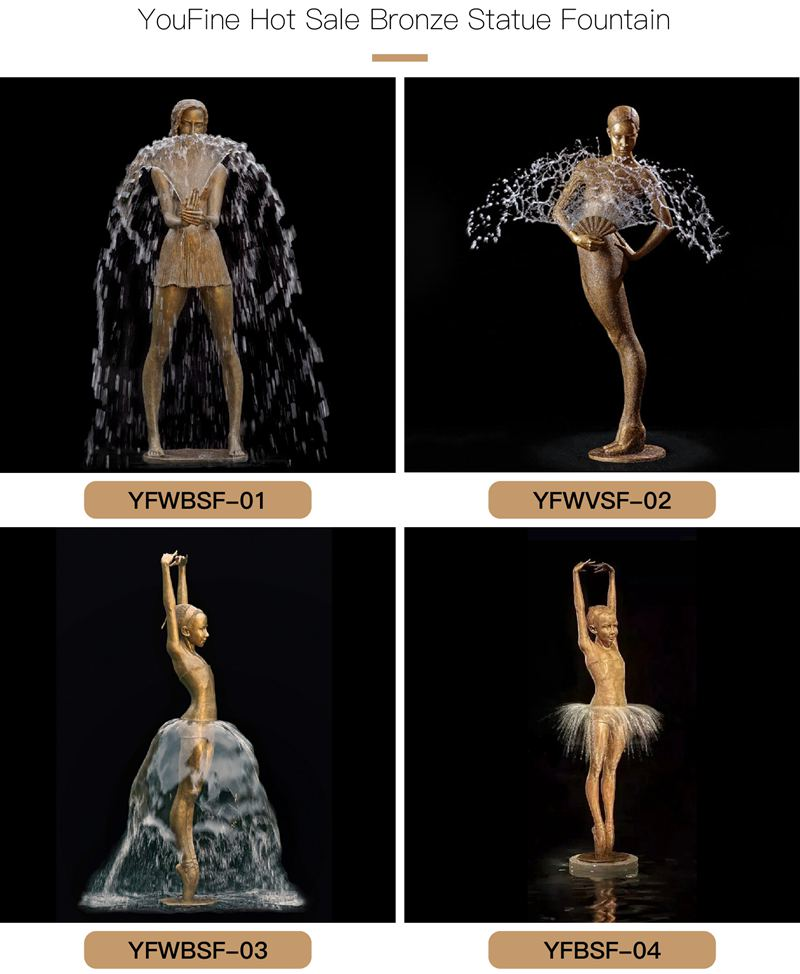 bronze water fountain statues for sale