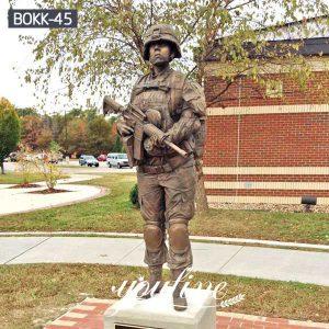 Outdoor Life Size Memorial Soldier Sculpture Supplier BOKK-45