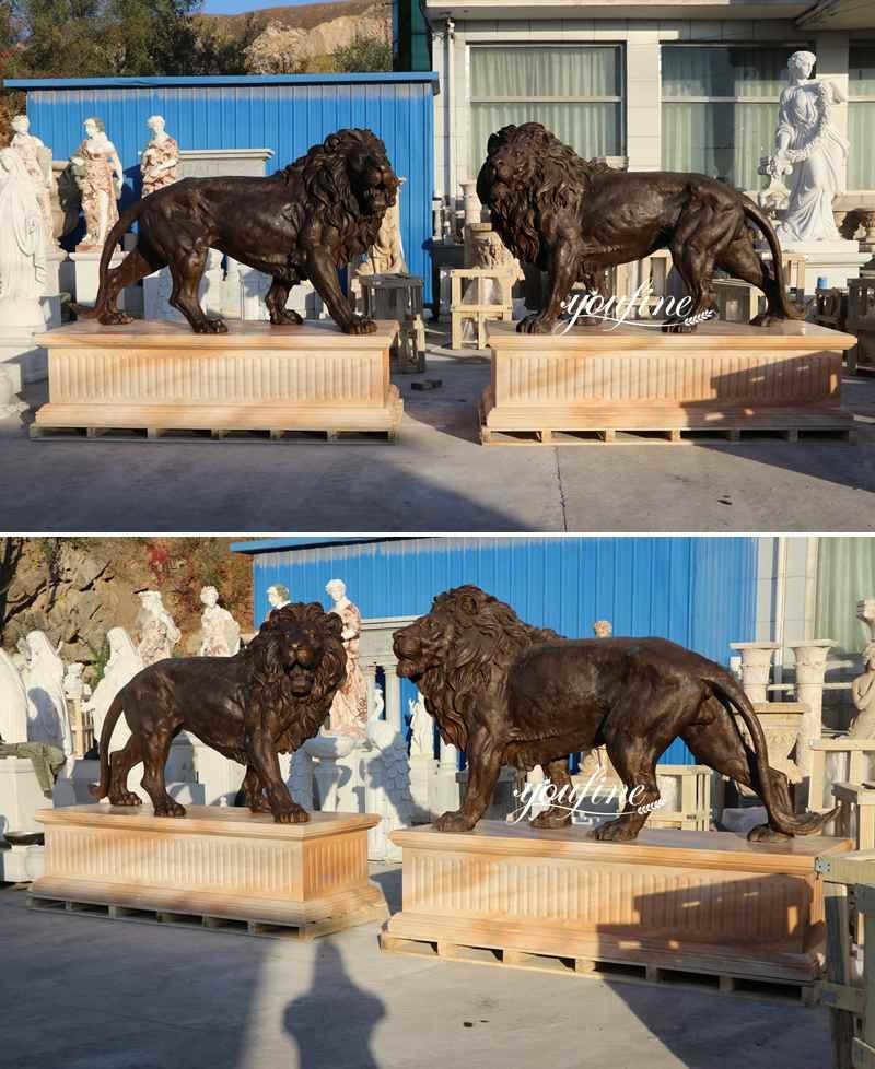 Antique Bronze Lion Statues for Sale