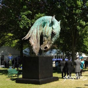 Horse Ranch Large Bronze Horse Head Statue for Sale BOKK-907