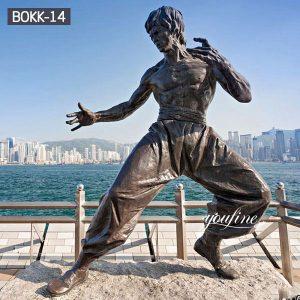 Life Size Bronze Bruce Lee Statue Square Memorial for Sale BOKK-14