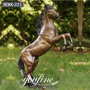 Life Size Bronze Jumping Horse Statue for Sale BOKK-221