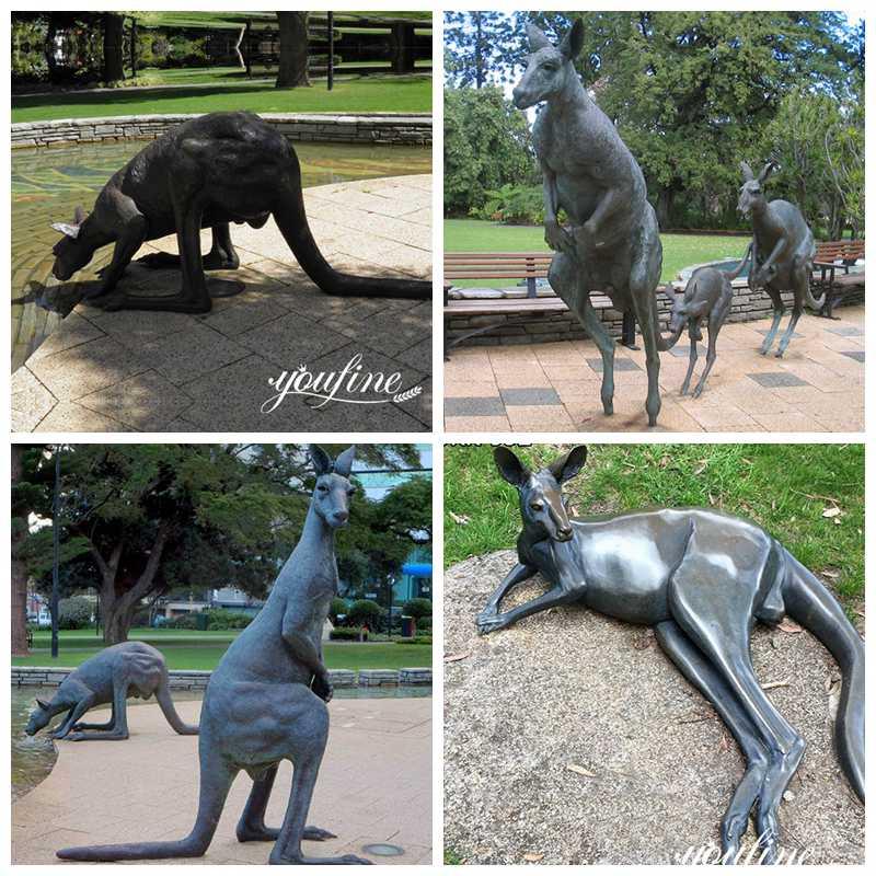 Bronze Kangaroo Sculptures