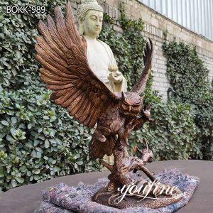 Life Size Outdoor Bronze Eagle Statue Garden Decor for Sale BOKK-989