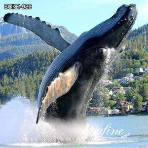 Outdoor Large Bronze Whale Statue Seaside Sculpture Decor for Sale BOKK-983