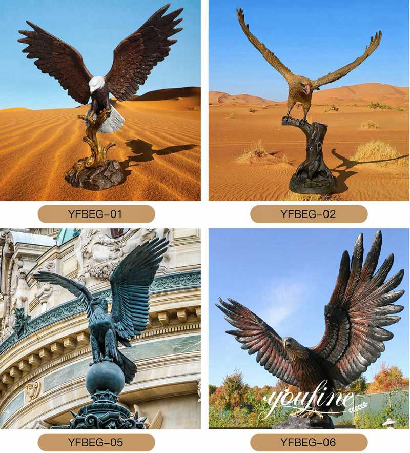antique brass eagle statue