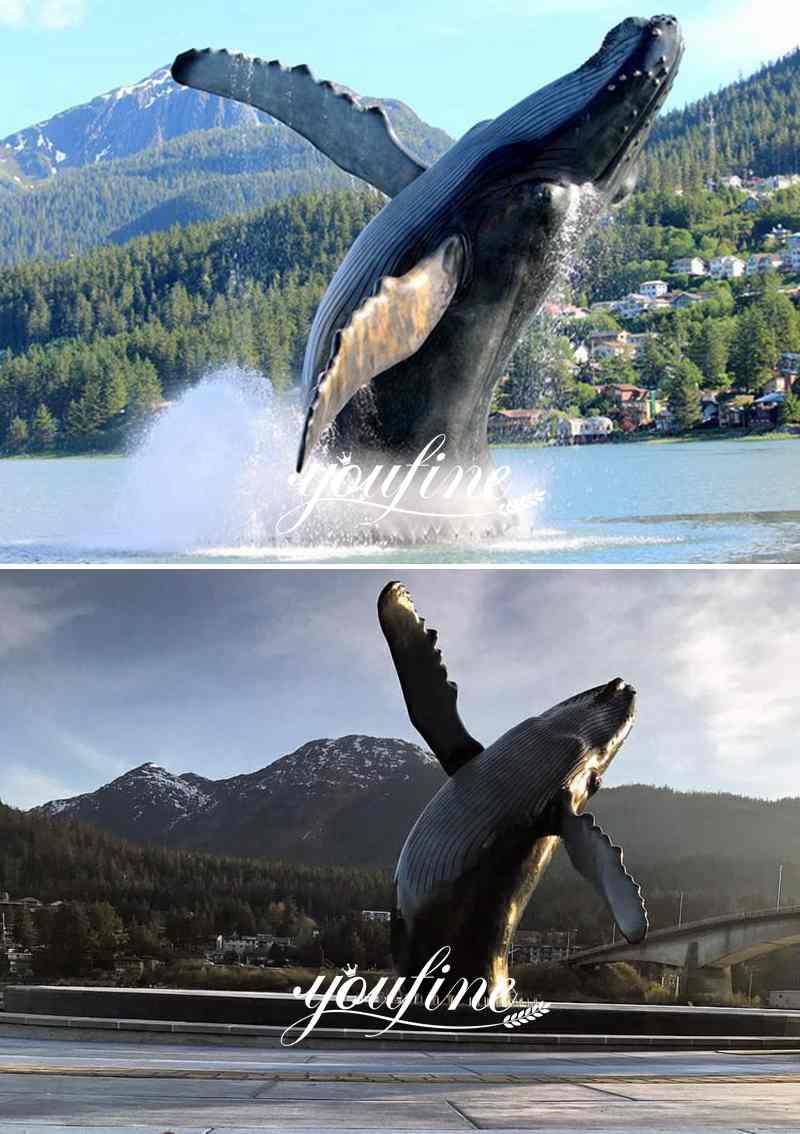 bronze whale sculpture for sale