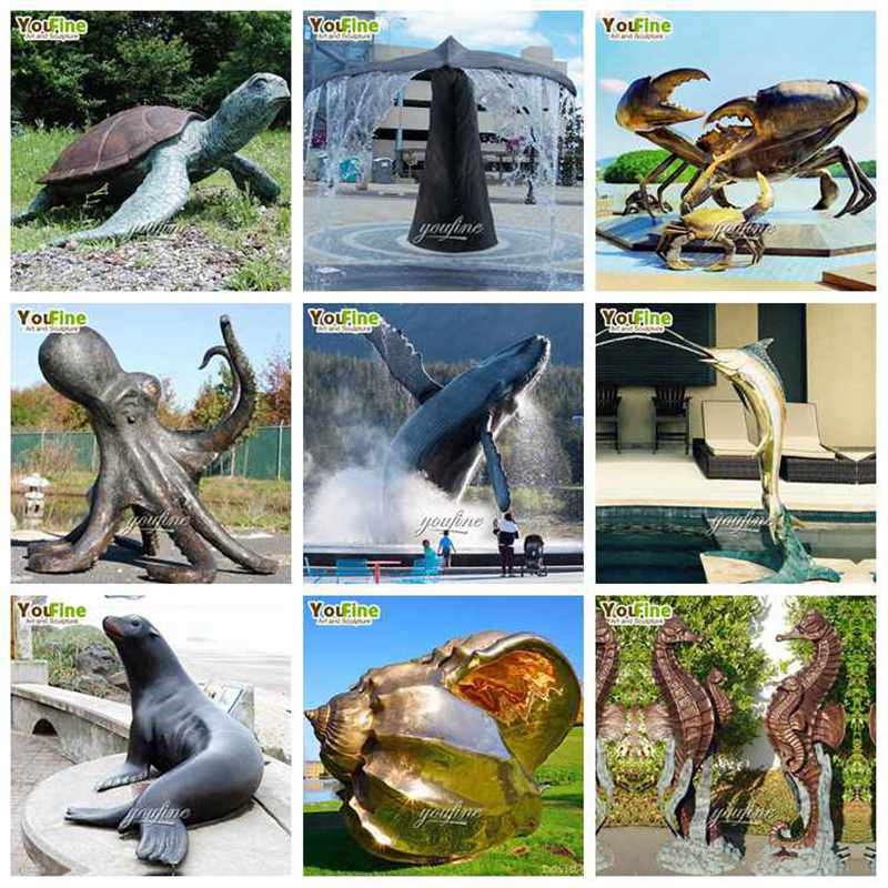 sea animal statues