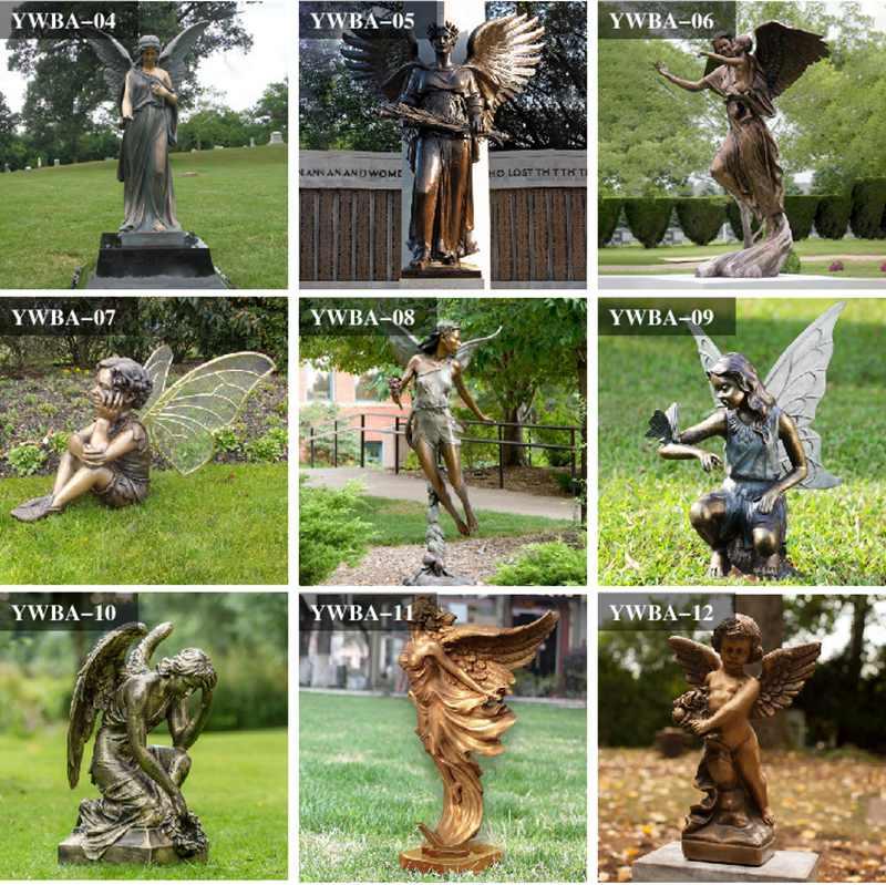 bronze angel sculptures