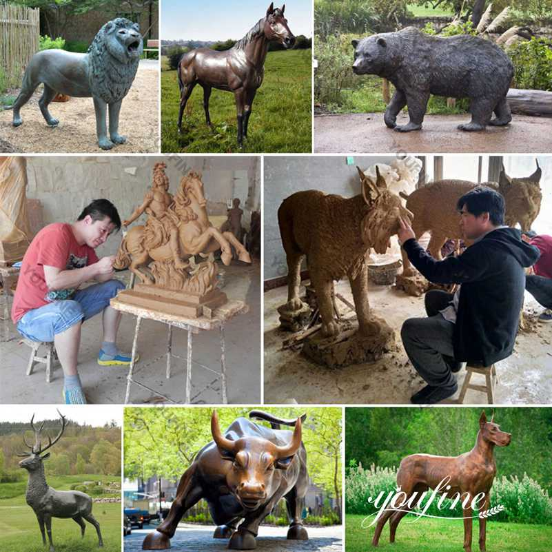 Antique Large Bronze Elephant Zoo Garden