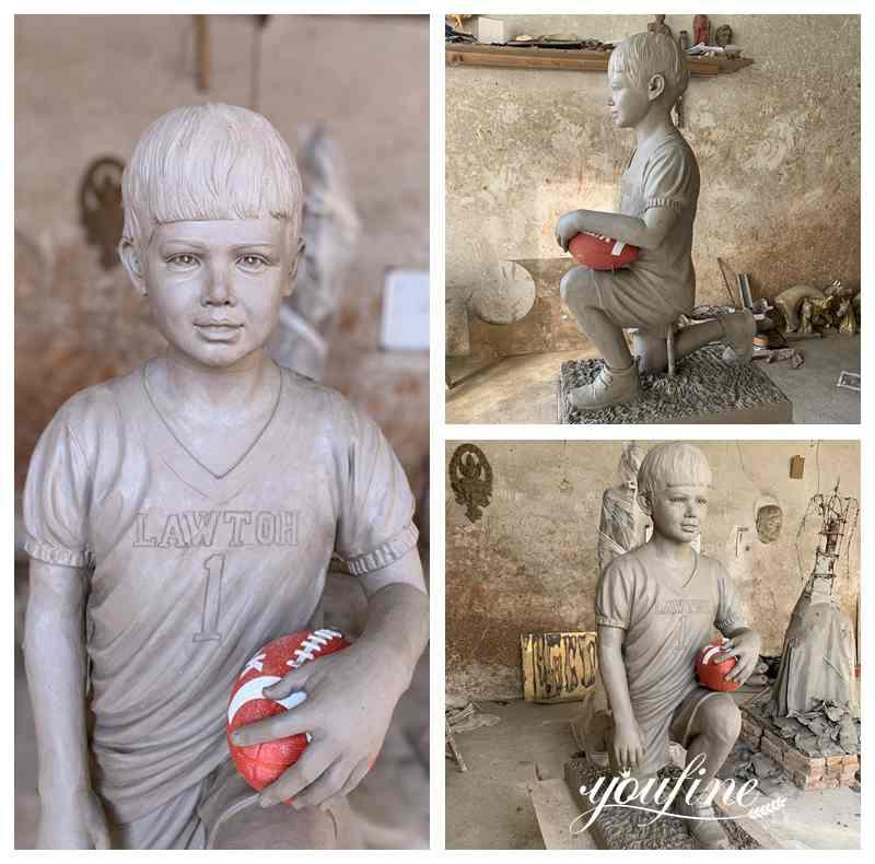 Bronze Boy Sculpture Custom Statue from Photo