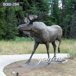 Large Size Bronze Wild Moose Statue Outdoor for Sale BOKK-284