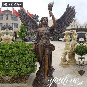 Life Size Bronze Angel Sculptures Holding Torch for Sale MOKK-453