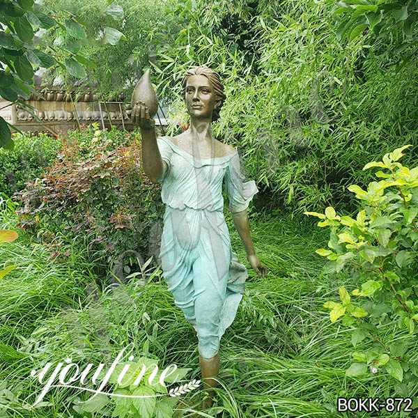 Life Size Bronze Woman Statue Garden Decoration for Sale BOKK-872 (2)