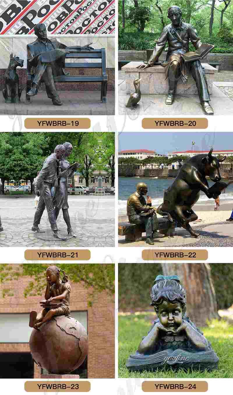 bronze garden statue