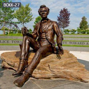 Life Size Famous Bronze LincIon Sculpture Custom Services BOKK-27