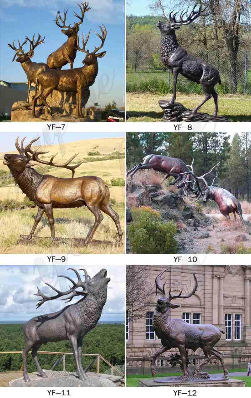 Bronze Elk Statues