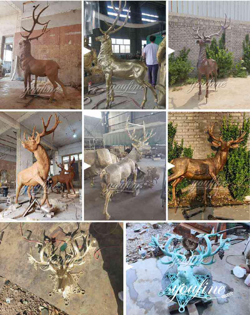 life size deer statues