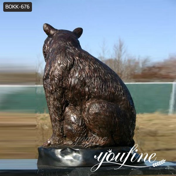 Bronze Bear Family Statue Mother and Kids for Sale BOKK-676 (4)