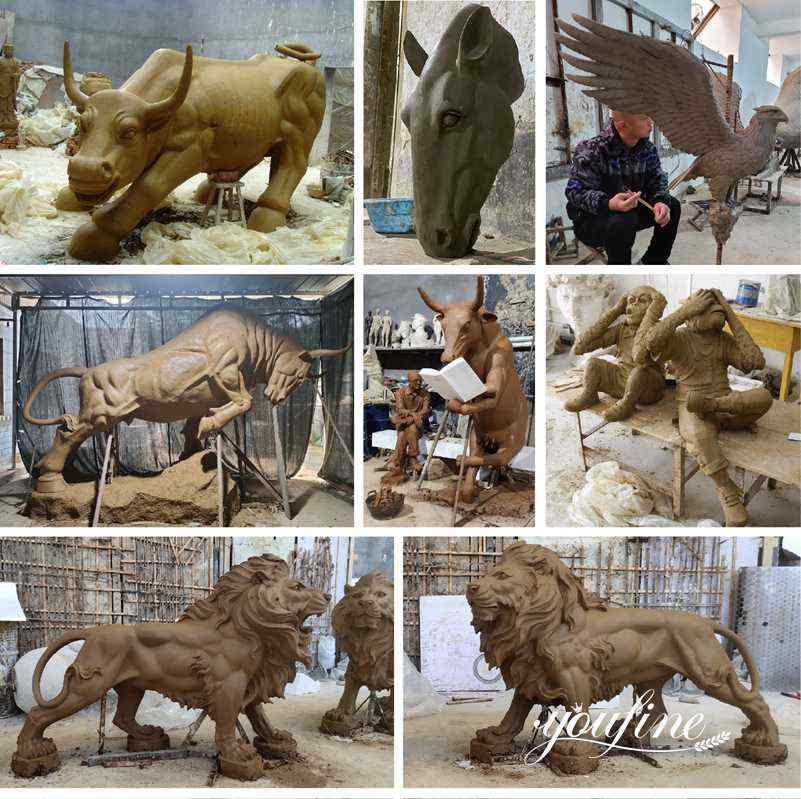 Bronze animal statue for sale