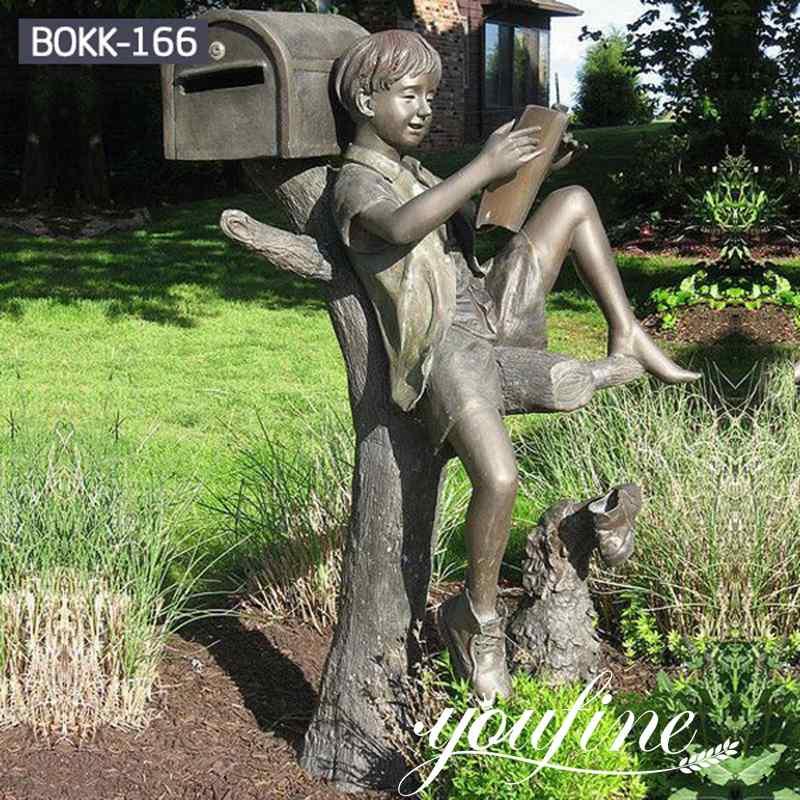Custom Bronze Boy Statue Reading Book for Sale BOKK-166 (2)