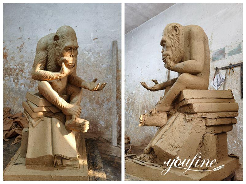 Darwin ape statue