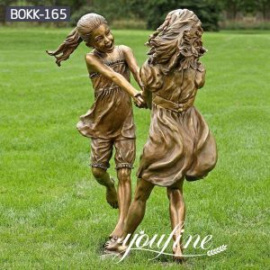 Life Size Custom Bronze Girls Statue Childhood for Sale BOKK-165