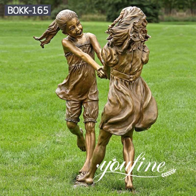 Friendship Custom Bronze girls Statue Childhood for Sale BOKK-165 (2)