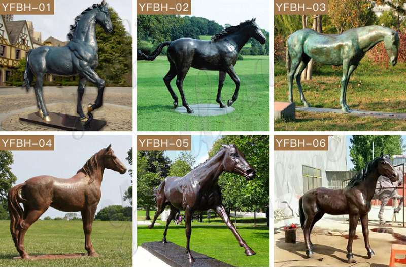 Outdoor Decoration Bronze Mare and Foal Statue for Sale BOKK-867 (6)