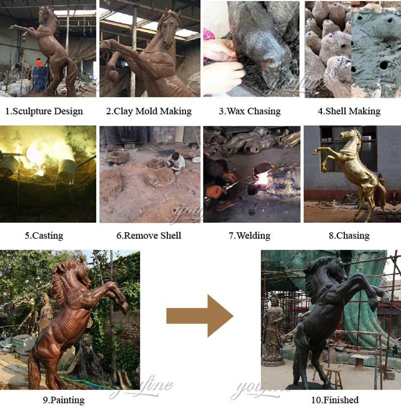 bronze horse statue for sale