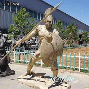 Life-Size Bronze Spartan Soldier Statue Outdoor Decor Factory Supply BOKK-924