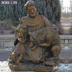 Bronze St Francis Statue Garden Church Decor for Sale BOKK-139
