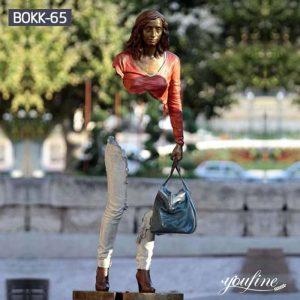 Life Size Bronze Bruno Catalano Sculpture Tourist Attraction Decor for Sale BOKK-65