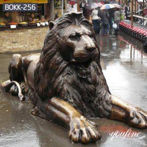 Life-Size Outdoor Bronze Lion Statues Garden Decor for Sale BOKK-256